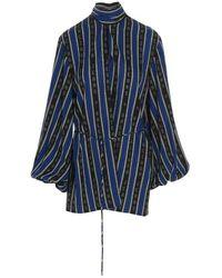 Balenciaga Striped Blouse - Blauw