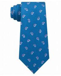 Michael Kors Neck Tie Small Pine Toss Paisley Skinny - Blau