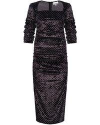 Ganni Dress With Gathers - Zwart