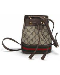 Gucci Pre-owned gg supreme ophidia bucket bag - Multicolore
