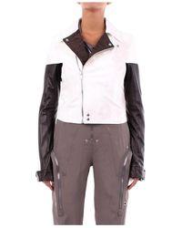 Rick Owens Rp 20s1716lcom 10 leather jackets - Blanco