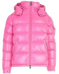 Moncler Maya Padded Jacket W/hood - Roze