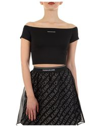 Calvin Klein Bare Shoulders Top - Zwart