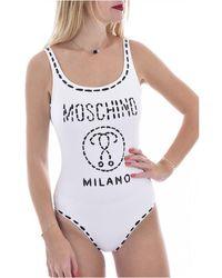 Moschino Maillot De Bain À Gros Logo - Wit
