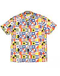Iuter Short Sleeve Brotherhood Shirt - Bleu