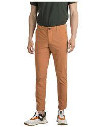 Rrd Pantalone Chino Tecno Wash - Oranje