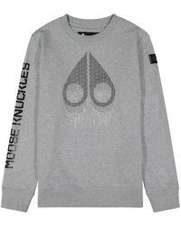 Moose Knuckles Denison Sweater - Grijs