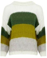 Noella Delta Block Sweater12136003 - Groen