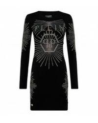 Philipp Plein Short dress crystal - Noir