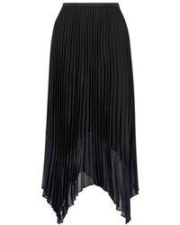 French Connection Asymmetrical Midi Skirt - Zwart