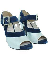 Miu Miu Vintage Peep Toes Pumps Azul