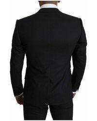 Dolce & Gabbana Wool Stretch Martini Suit - Grau
