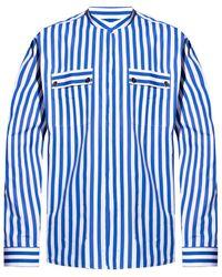Balmain Patterned shirt - Blu
