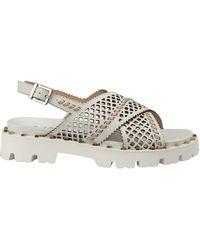 Baldinini Sandal in perforated leather - Blanc