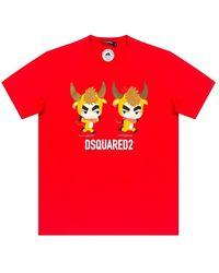 DSquared² Printed T-shirt - Zwart