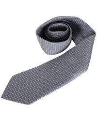 Hermès Geometrical Printed Tie - Blu
