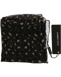 Dolce & Gabbana Silk Floral Print Scarf - Zwart