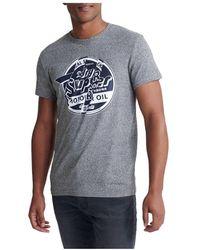Emporio Armani Camiseta Brand Language - Gris