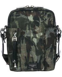 Dolce & Gabbana Men's Nylon Cross-body Messenger Shoulder Bag - Groen