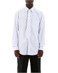 Burberry Shirt And Tie Set - Blauw
