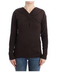 Roberto Cavalli Knitted Wool Sweater - Bruin