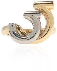 Ferragamo Ring with logo - Jaune