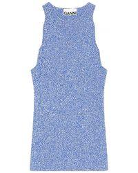 Ganni Melange Knit - Blauw