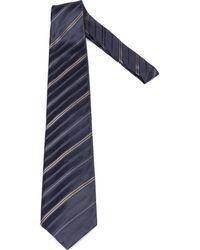Brioni Striped tie - Bleu