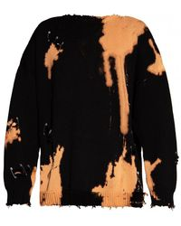 R13 Sweater with safety pins - Noir
