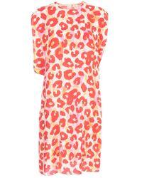 Marni Printed Camou Mouwloze Jurk - Rood