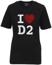 DSquared² D2 Logo-printed T-shirt - Zwart