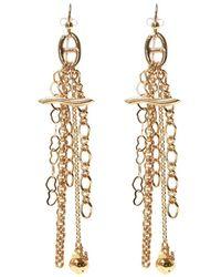 Gas Bijoux Enchainee Drop Earrings - Naturel