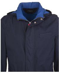 Kiton Coat Azul
