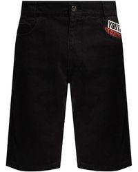 Raf Simons Denim shorts Negro