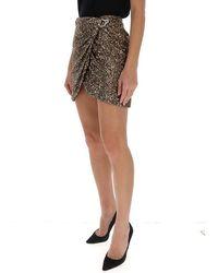 Amen Sequin wrap mini skirt Amarillo