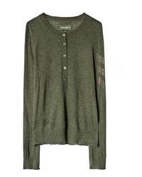 Zadig & Voltaire Cashmere Sweater Monday Arrow - Verde