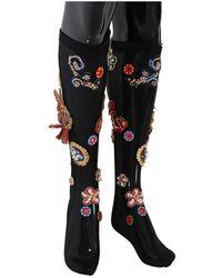 Dolce & Gabbana Crystal Sokken - Zwart