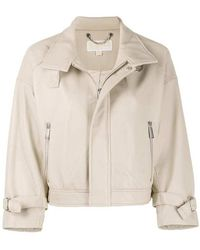 Michael Kors Leather jacket - Neutre