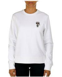 Karl Lagerfeld Ikonik Mini Sweatshirt - Wit