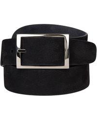 Santa Eulalia Reversible suede belt - Negro