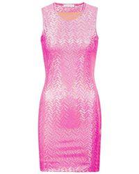 Saks Potts Schimmerndes Minikleid - Roze