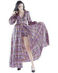 Silvian Heach Nyarna Long Dress Cvp20111Ve - Violet