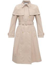 Ferragamo Double-breasted trench coat - Neutre