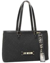 Love Moschino Jacquard Bag - Zwart