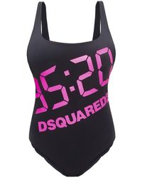 DSquared² One-piece Swimsuit From The 25th Anniversary Collection - Zwart