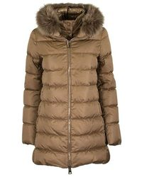 Herno Down Jacket With Fur - Bruin