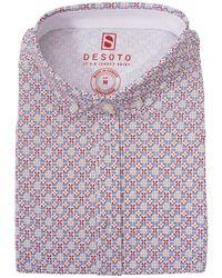DESOTO Shirt Km Casual 43031-3 308 - Oranje