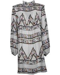 Silvian Heach Bissam Dress Paisley Print - Wit