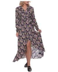 Colourful Rebel Vivian Flower Collar Dress - Bruin