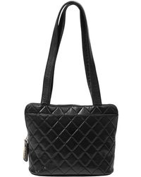 Chanel Vintage Zip Tote - Noir